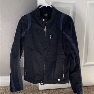 Armani Exchange Moto Jacket Size M